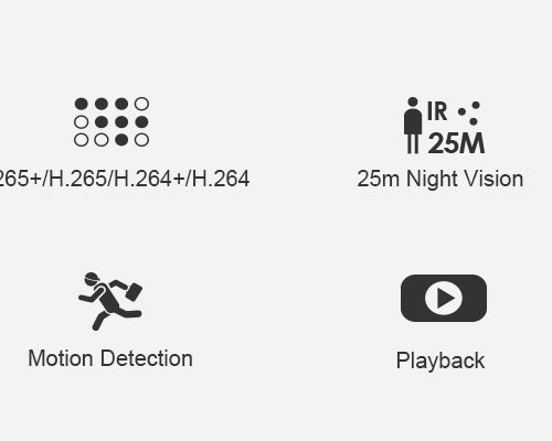 4 kamery bezprzewodowe WIFI Zestaw Monitoringu 1MP