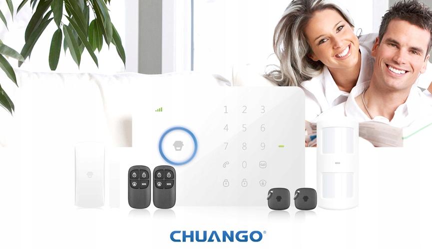 Alarm bezprzewodowy Chuango G5 GSM 7 czujników