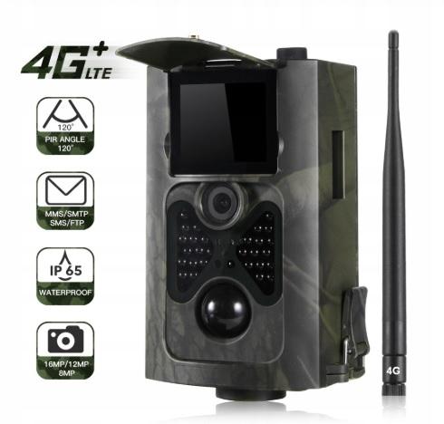 Fotopułapka gsm 4G LTE kamera leśna 16Mp WYŚLE MMS