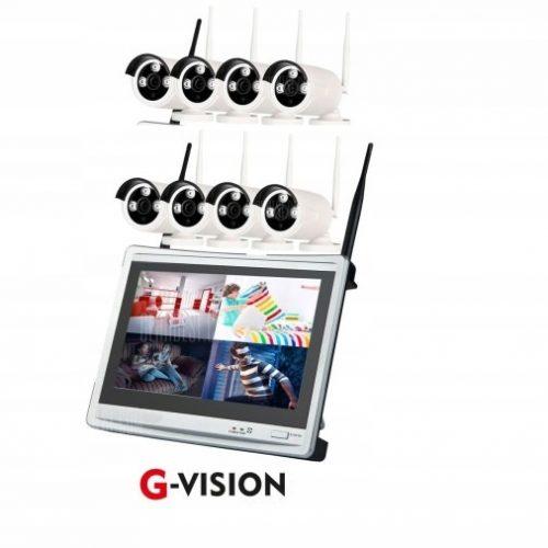 BEZPRZEWODOWY MONITORING 8 KAMER WIFI +MONITOR LCD