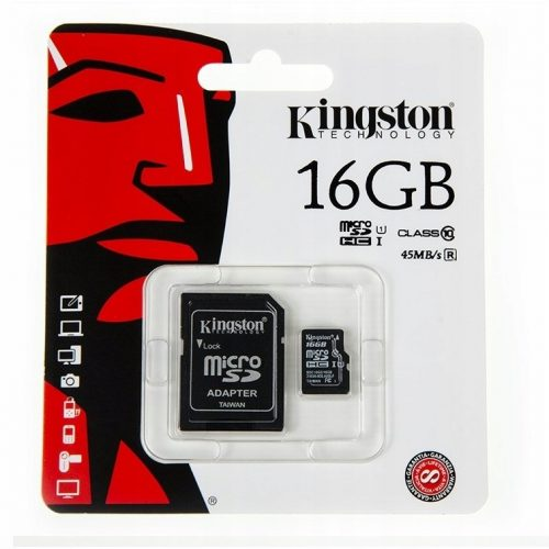 Karta micro sd 16GB do kamer monitoringu klasa 10