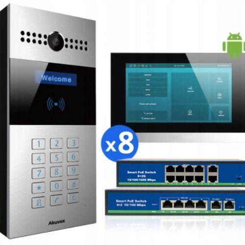 Akuvox zestaw wideodomofonowy 8-RODZINNY SIP