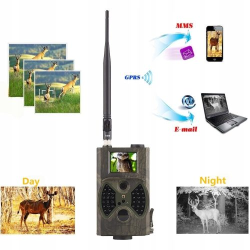 Kamera leśna lub na budowę fotopułapka MMS 3G GSM