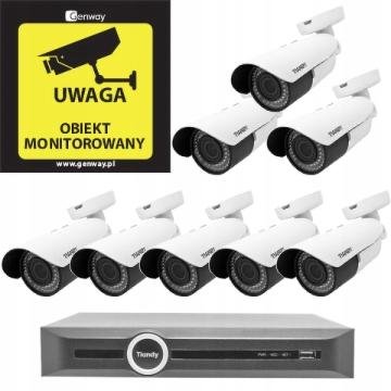 Domowy monitoring – 8 kamer MOTOZOOM TC-NC43M