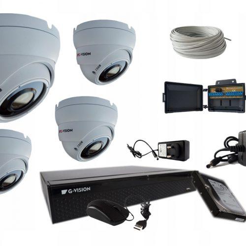 MONITORING DOMU fullHD 4KAMER 5MPX IR40 2,8-12mm