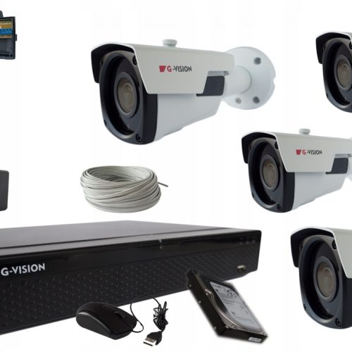MONITORING CCTV ZESTAW KAMER 5MPx IR 60m + 2TB