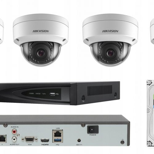 CYFROWY MONITORING DO DOMU HIKVISION 4 MPX IP POE