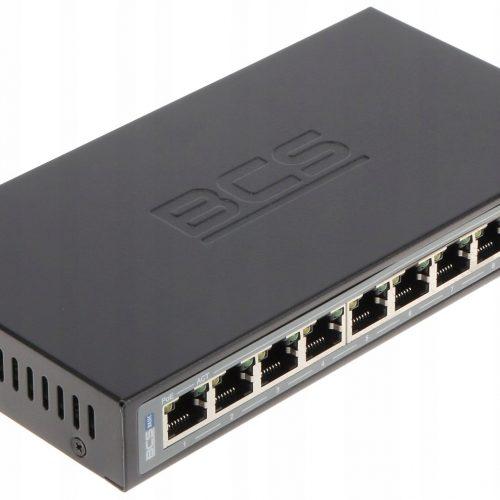 Switch PoE BCS-B-SP0802 10-PORTOWY BCS basic