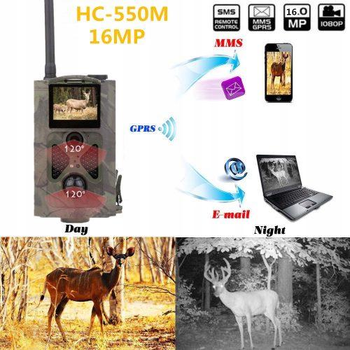 Kamera na Baterie 16MP fotopułapka MMS 3G GSM +SIM