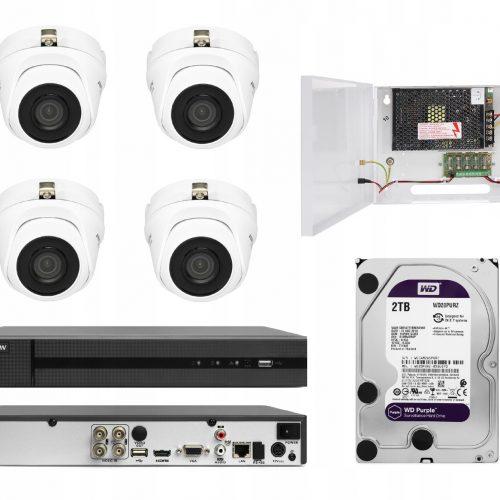 HIWATCH HIKVISION zestaw kamer monitoringu na ruch
