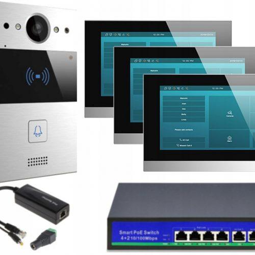 Akuvox zestaw jednorodzinny 3 monitory C315S