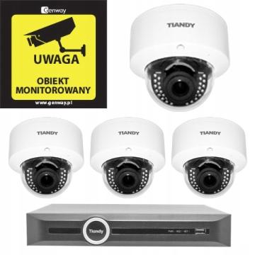 Domowy monitoring – 4 kamery Tiandy TC-NC44M