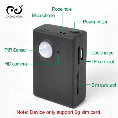 Czujnik ruchu z powiadomieniami sms Kamera + Audio