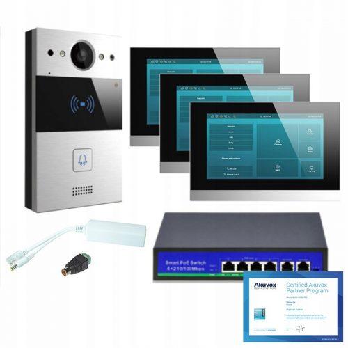 Akuvox zestaw jednorodzinny 3 monitory C315S Andro