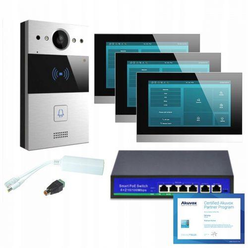 Akuvox zestaw jednorodzinny 3 monitory C315W Andro
