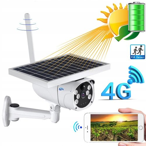 KAMERA SOLARNA LTE GSM 4G Internet z karty SIM