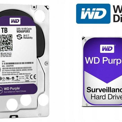 WD60PURX DYSK TWARDY 6TB 64MB 24H/7 MONITORING