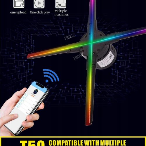 Reklama świetlna led 3D hologram reklamowy 50cm