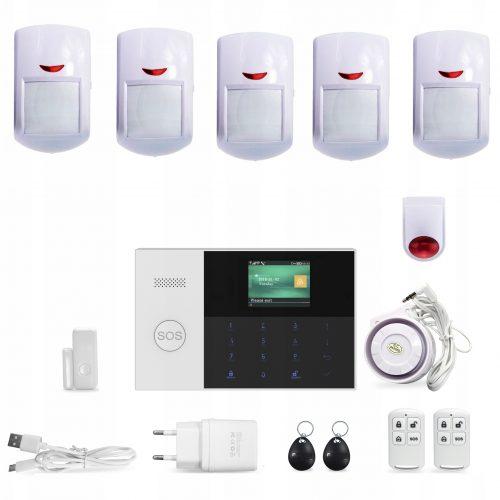 Bezprzewodowy alarm GSM + WiFi M105 6 czujek PL