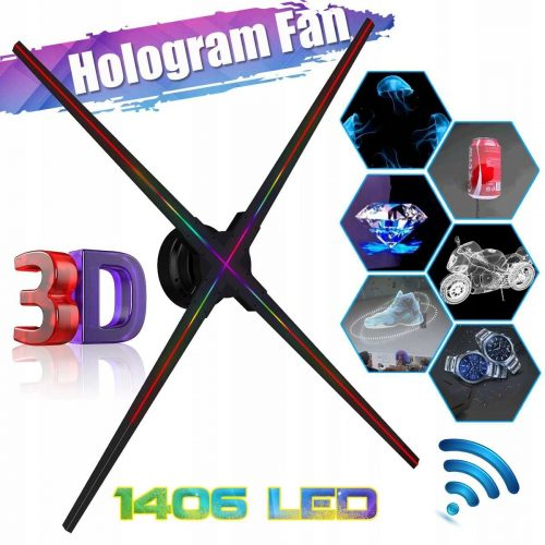 NOWOCZESNA FORMA REKLAMY PROJEKTOR HOLOGRAM 3D