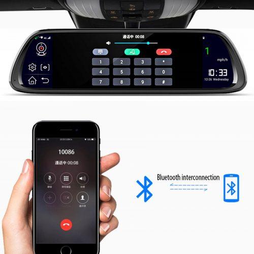Rejestrator samochodowy lusterko 10w1 2mpx 1080p
