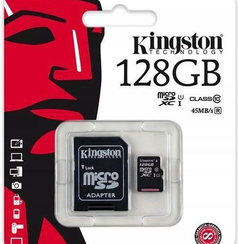 Karta micro sd 128GB do kamer monitoringu klasa 10