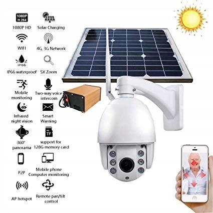 Kamera 2Mpx SIM GSM 4G LTE WIFI solarna z panelem