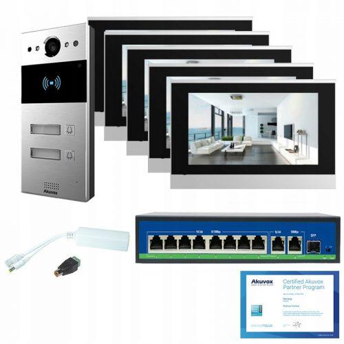 Akuvox – Zestaw wideodomofonowy 5-rodzinny x5 SIP