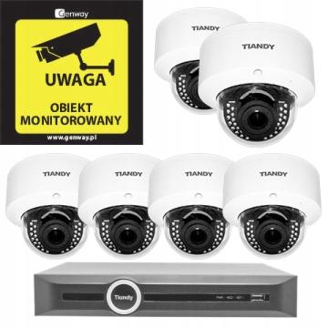 Domowy monitoring – 6 kamer Tiandy TC-NC44M