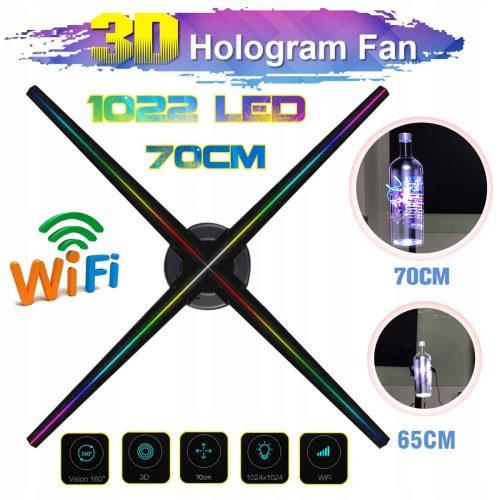 Wyświetlacz led 3D Hologram reklamowy 70cm 1022LED