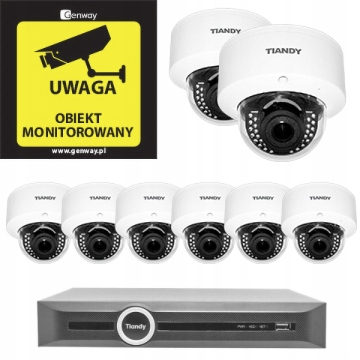 Domowy monitoring – 8 kamer Tiandy TC-NC44M