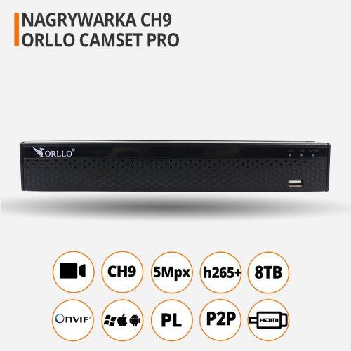Nagrywarka Rejestrator WiFi ORLLO CAMSET PRO CH9