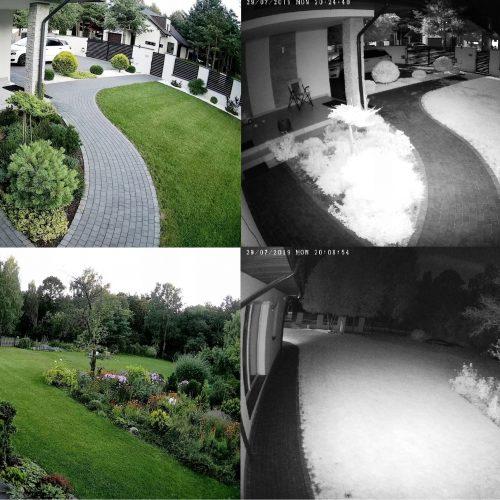 Monitoring 8kamer kopułkowych zewnętrznych 8Mp 4K