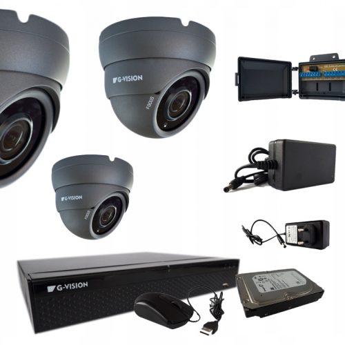 KAMERY CCTV fullHD 4KAMER 5MPX IR40 2,8-12mm