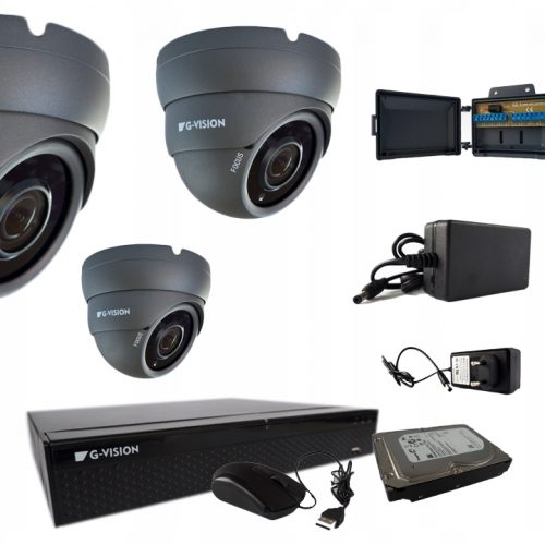KAMERY AHD TVI CVI fullHD 4KAMER 5MPX IR40 2,8mm