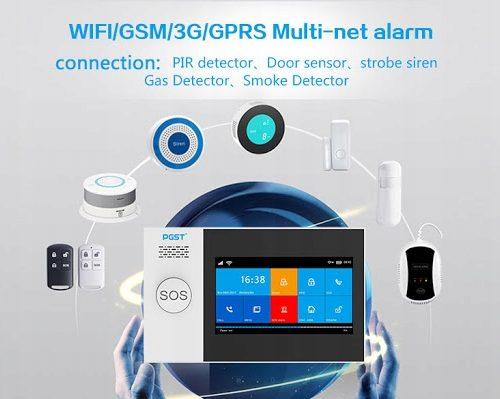 ALARM BEZPRZEWODOWY GSM WIFI 4CZUJKI,SYRENA,PILOT