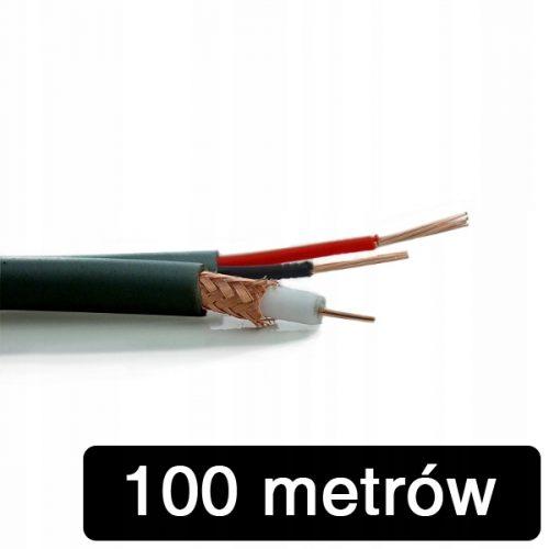 KABEL do monitoringu CCTV RG59+2*0,5MM 100M