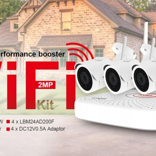 4 kamery bezprzewodowe WIFI Zestaw Monitoringu 2MP