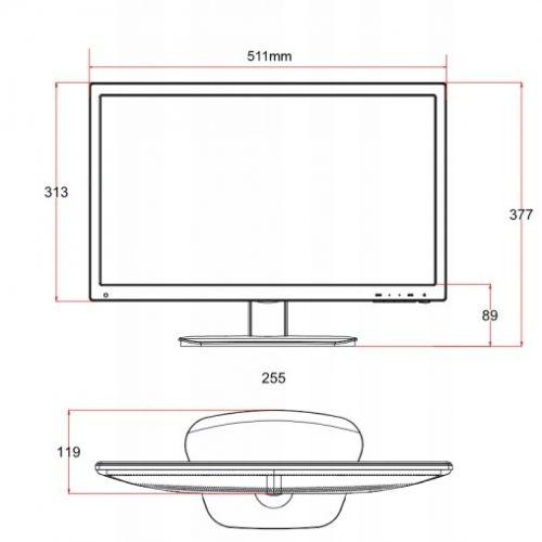 DS-D5022FC-B – Monitor przemysłowy 21,5″ LED