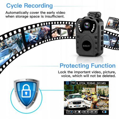 PROFESJONALNA kamera policyjna komornicza nasobna